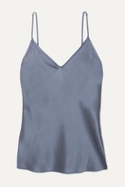 막스마라 민소매 탑 Max Mara Leisure stretch-silk satin camisole