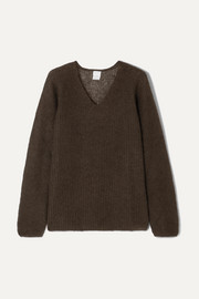 Leisure ribbed mohair-blend sweater
