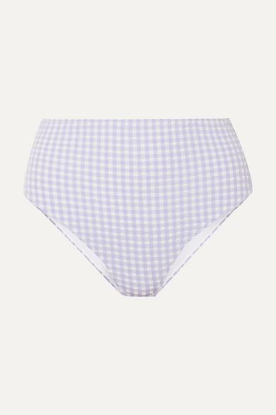Ganni Pants Gingham seersucker bikini briefs