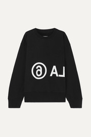 MM6 Maison Margiela Oversized printed cotton-jersey sweatshirt