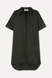 MM6 Maison Margiela Oversized cotton-poplin mini dress