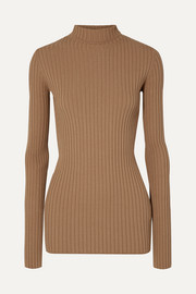 MM6 Maison Margiela Ribbed-knit turtleneck sweater