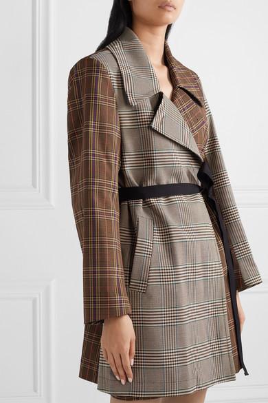 Mm6 Maison Margiela Jackets Patchwork checked crepe wrap jacket