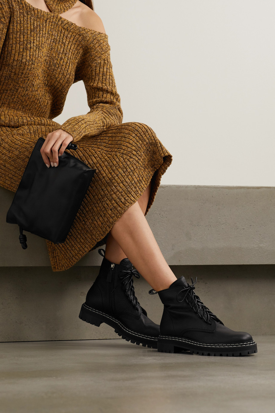 Proenza Schouler Textured-leather ankle boots
