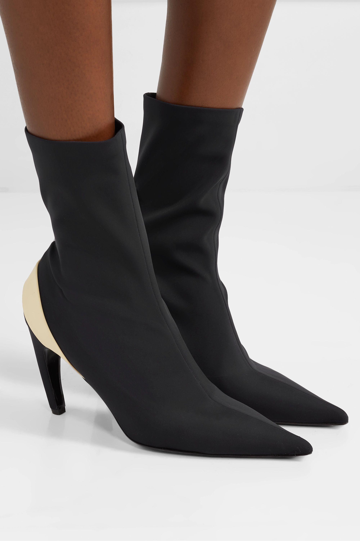 Proenza Schouler Rubber-trimmed stretch-knit sock boots