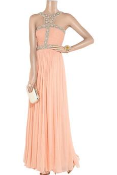 Rachel Gilbert|Samara embellished silk-chiffon gown|NET-A-PORTER.COM