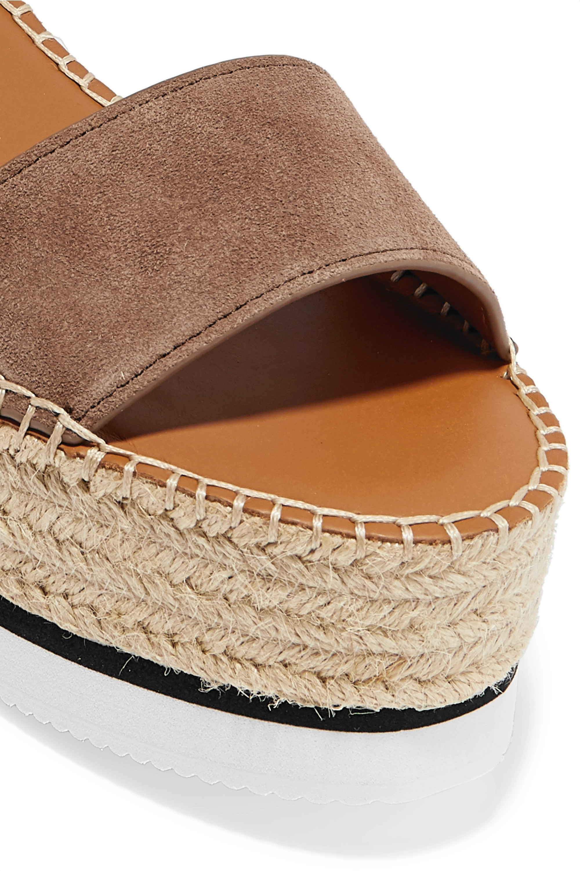 See By Chloé Suede and leather espadrille platform sandals