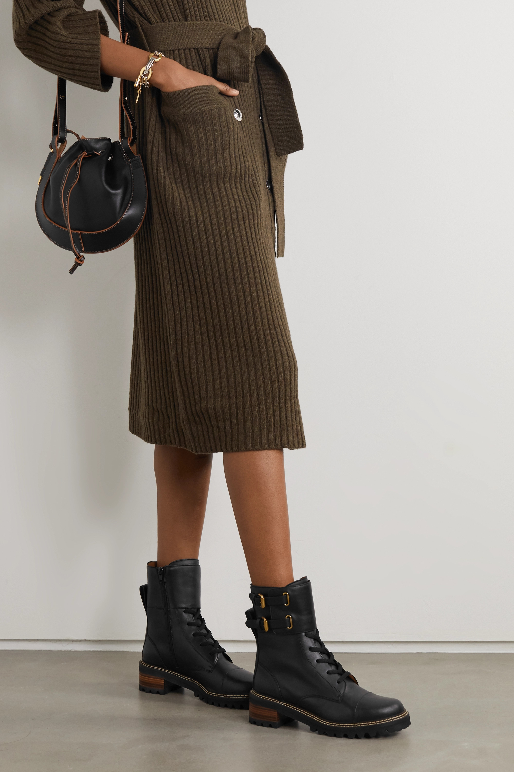Black Leather ankle boots | See By