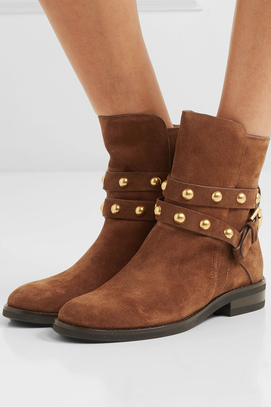 See By Chloé Studded suede ankle boots