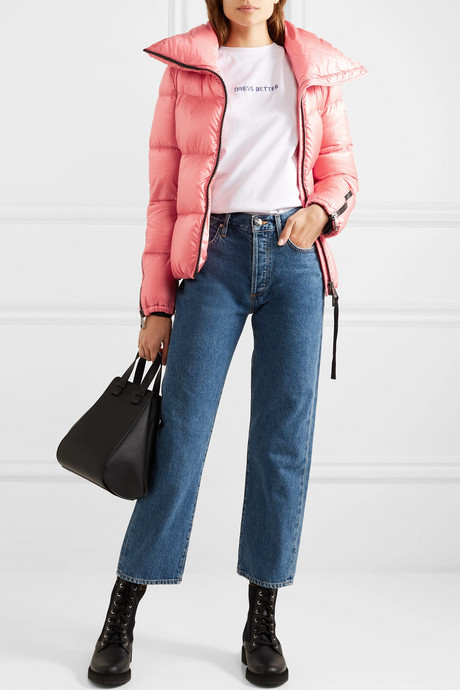 Pink Quilted shell down jacket   Moncler 3sgL3V