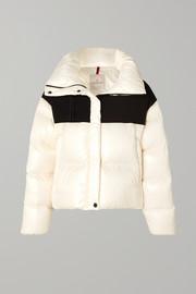 몽클레어 Moncler Hooded two-tone quilted shell and jersey down jacket