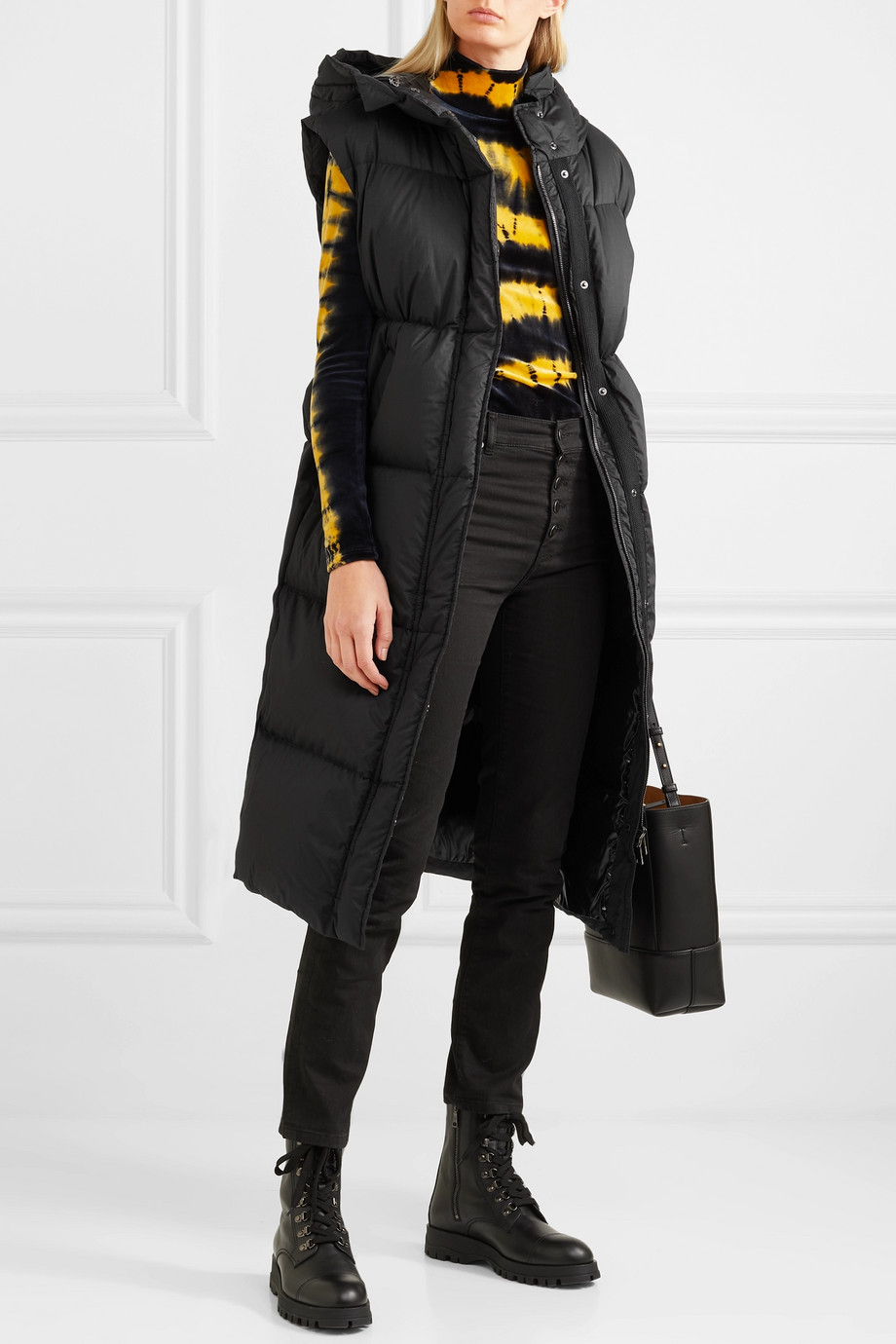 Moncler Hooded quilted cotton down vest