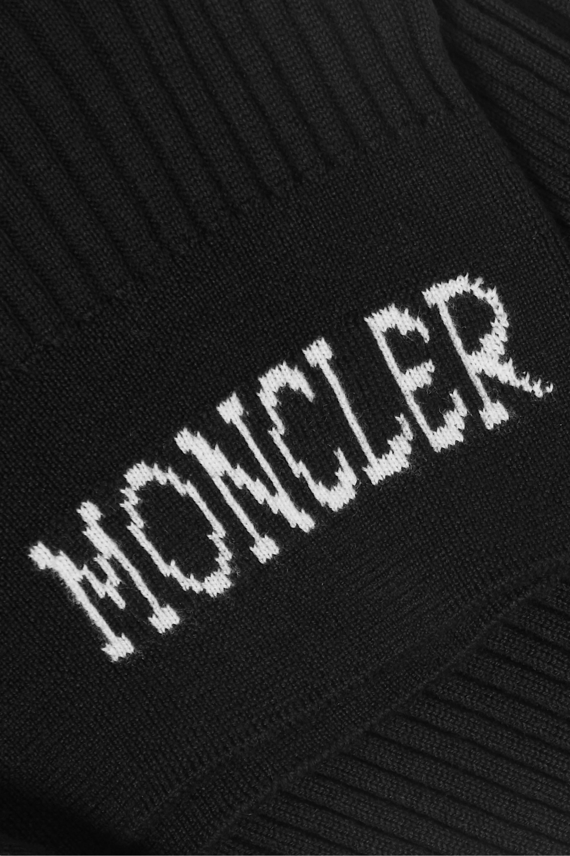 Moncler Pull à col roulé en laine côtelée