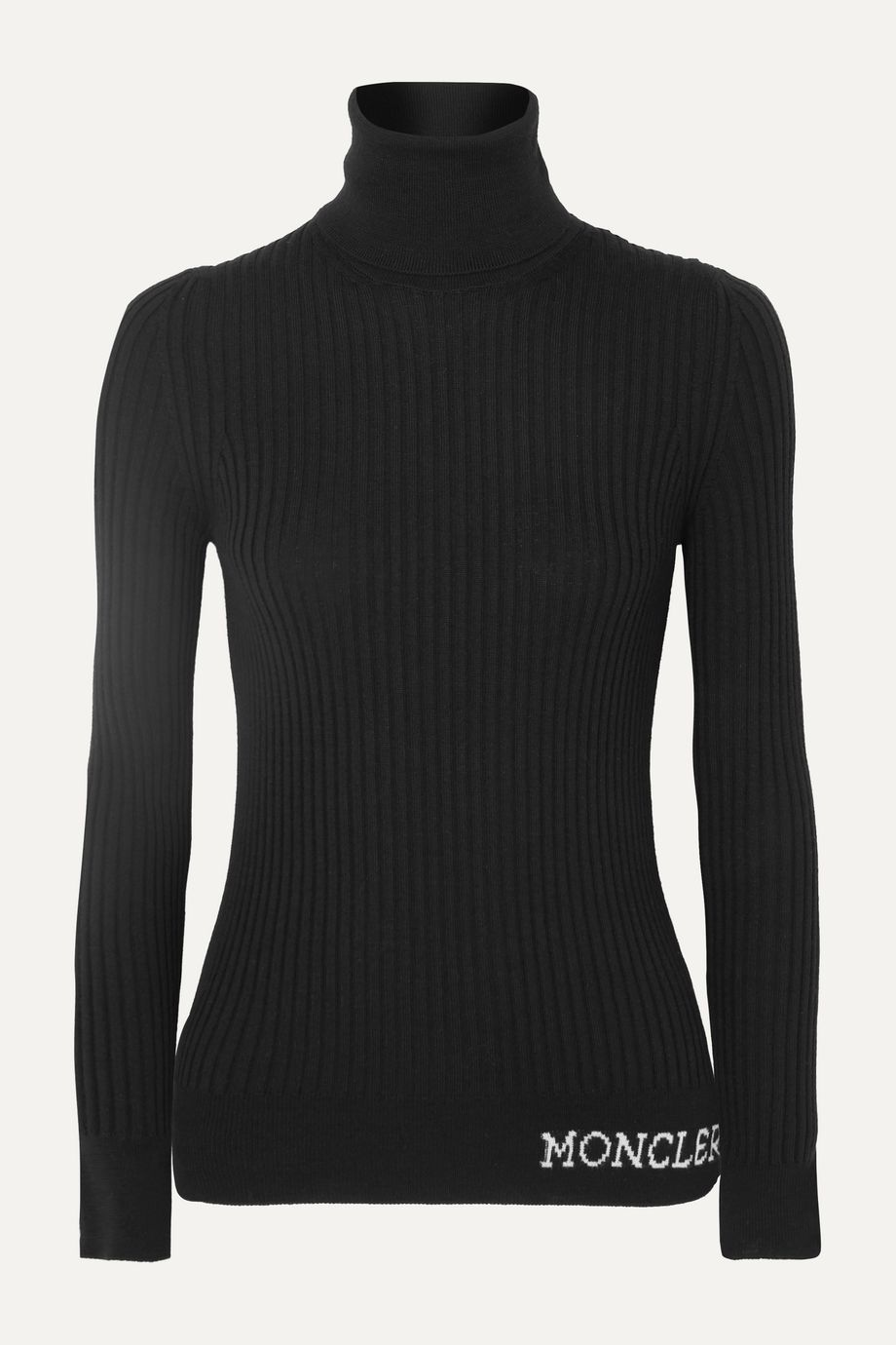 Moncler Ribbed wool turtleneck top