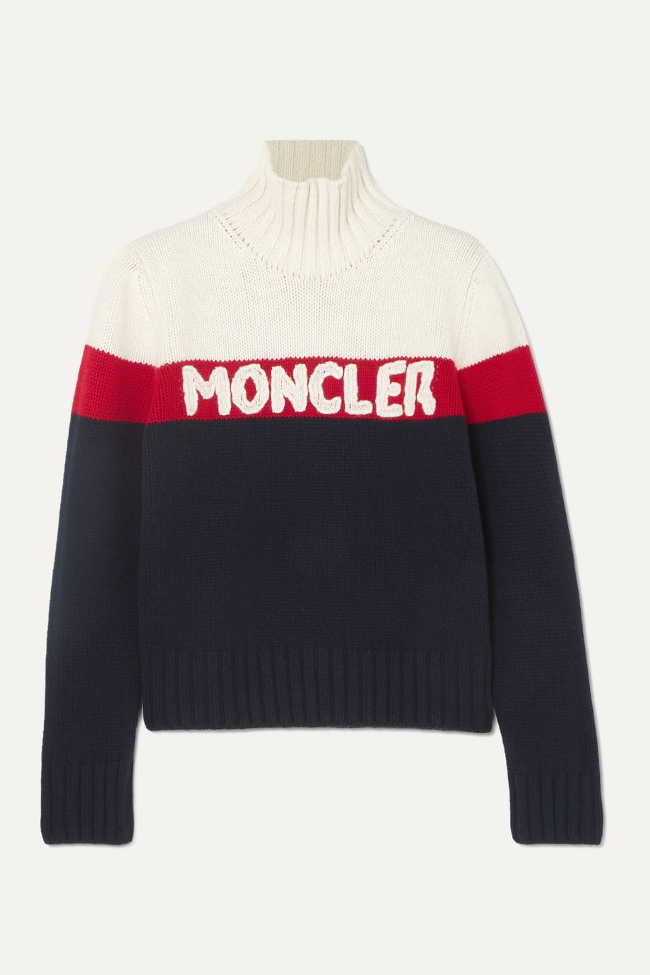 Moncler Wool and cashmere-blend jacquard turtleneck sweater