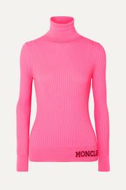 몽클레어 Moncler Intarsia ribbed wool turtleneck sweater