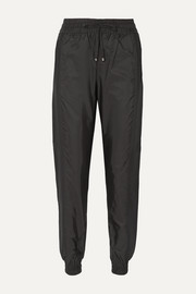 Moncler Jersey-trimmed shell track pants
