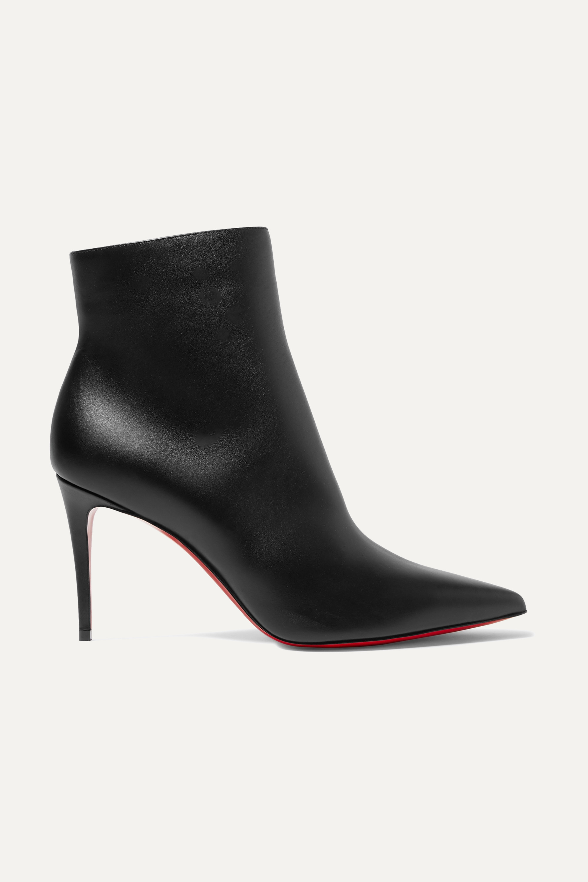 Black So Kate 85 leather ankle boots
