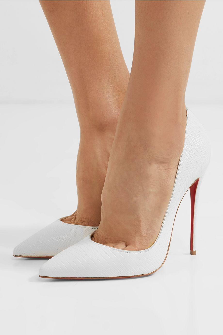 Christian Louboutin Escarpins en cuir effet lézard So Kate 120