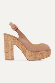 Dona Anna 120 leather slingback platform sandals