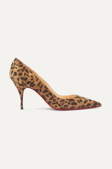 CHRISTIAN LOUBOUTIN | Christian Louboutin - Clare 80 Leopard-Print Suede Pumps - Leopard Print | Goxip