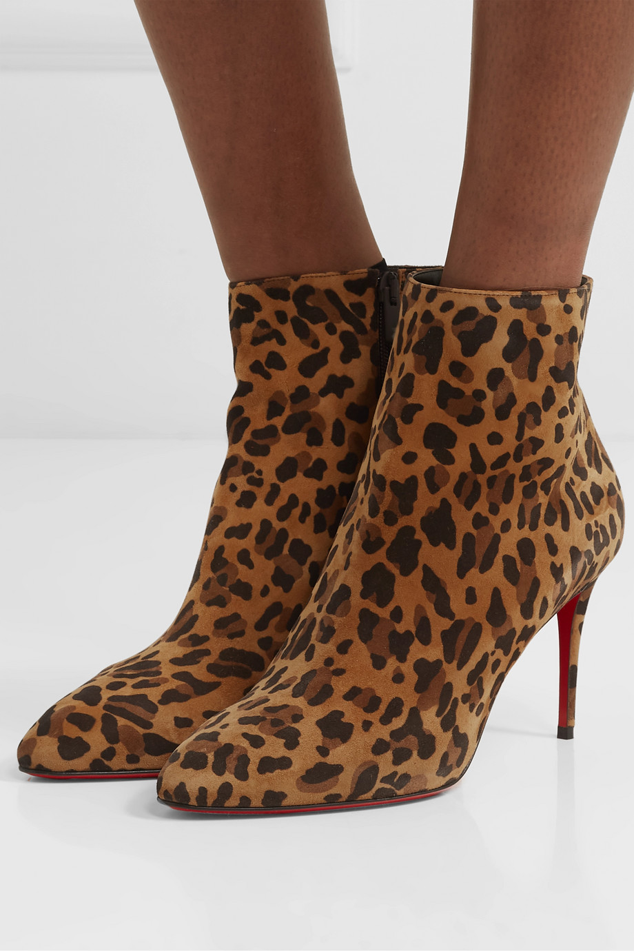 Christian Louboutin Eloise 85 leopard-print suede ankle boots