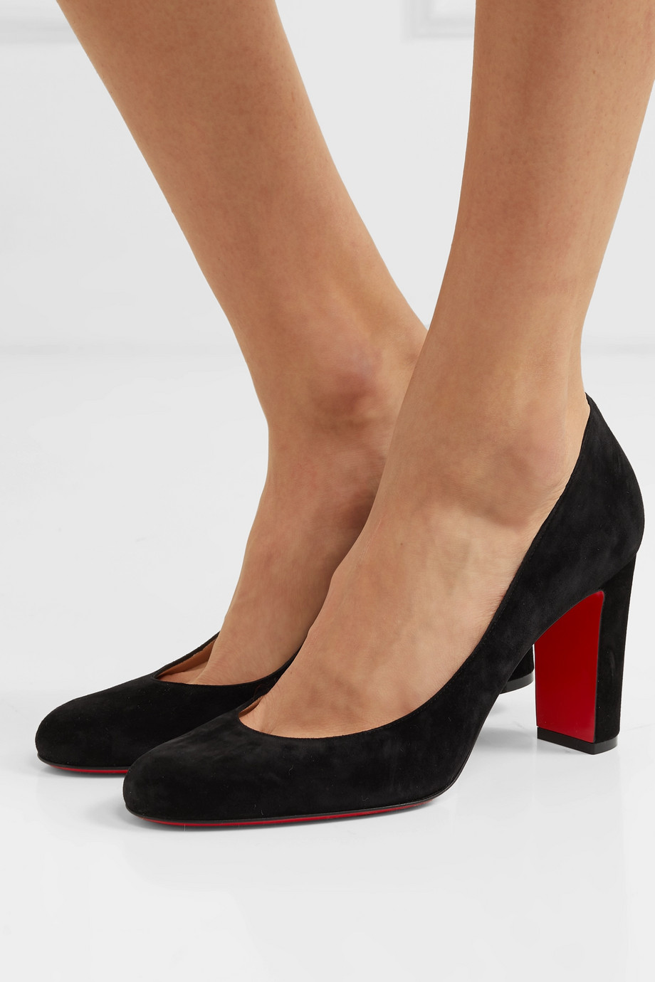 Christian Louboutin Lady Gena 85 Pumps aus Veloursleder
