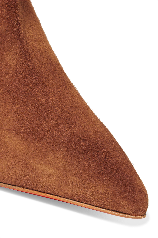 bottine louboutin marron
