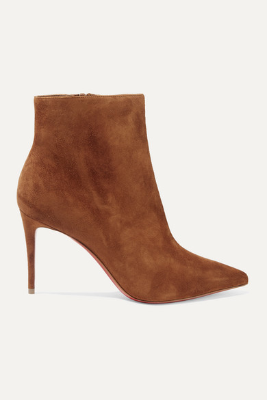 quality design b5c7b 7d87d Eloise Booty 85 Tan Suede Ankle Boots in Brown
