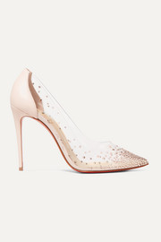 Degrastrass 100 embellished PVC and leather pumps