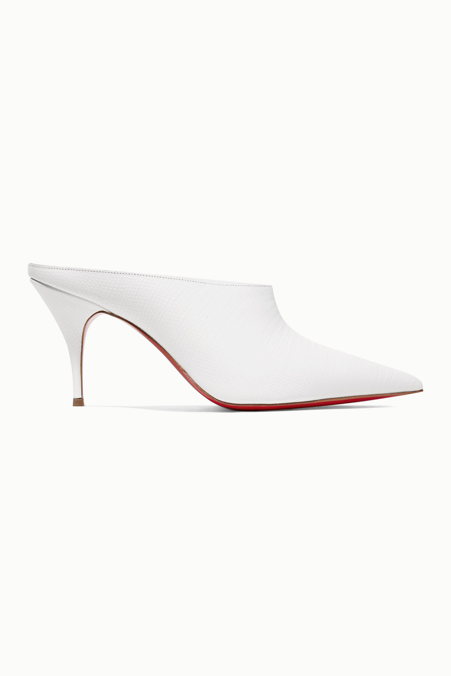 Christian Louboutin Quart 80 lizard-effect leather mules