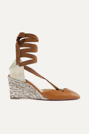 Noemia 70 leather wedge espadrilles