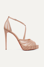 Christian Louboutin Filamenta 120 leather and mesh sandals