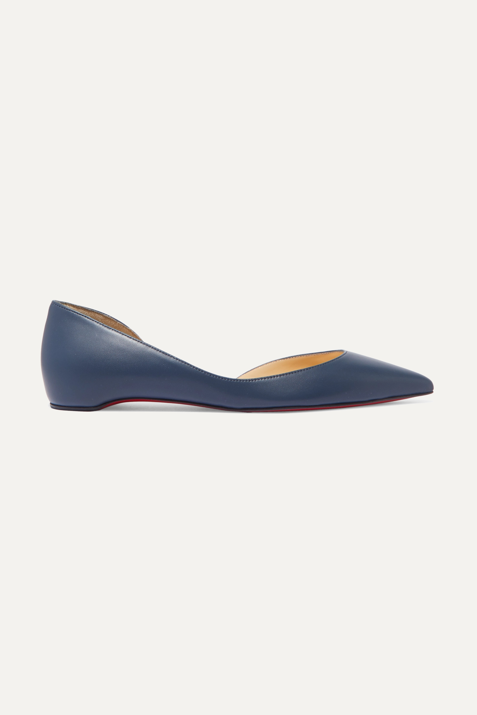 Christian Louboutin Chaussures plates à bouts pointus en cuir Iriza