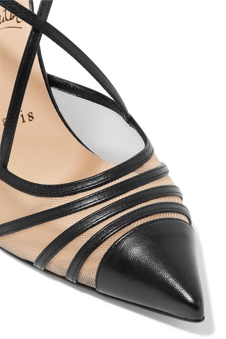Black Theodorella 100 leather and mesh pumps | Christian Louboutin vDo3nV