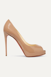 Christian Louboutin New Very Prive 120 patent-leather platform pumps