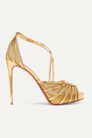 Filamenta 120 metallic leather and mesh sandals