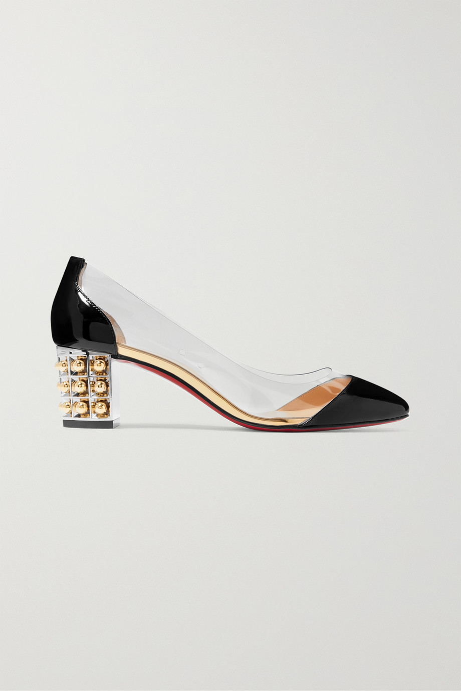 Christian Louboutin Gallica 55 PVC and patent-leather pumps