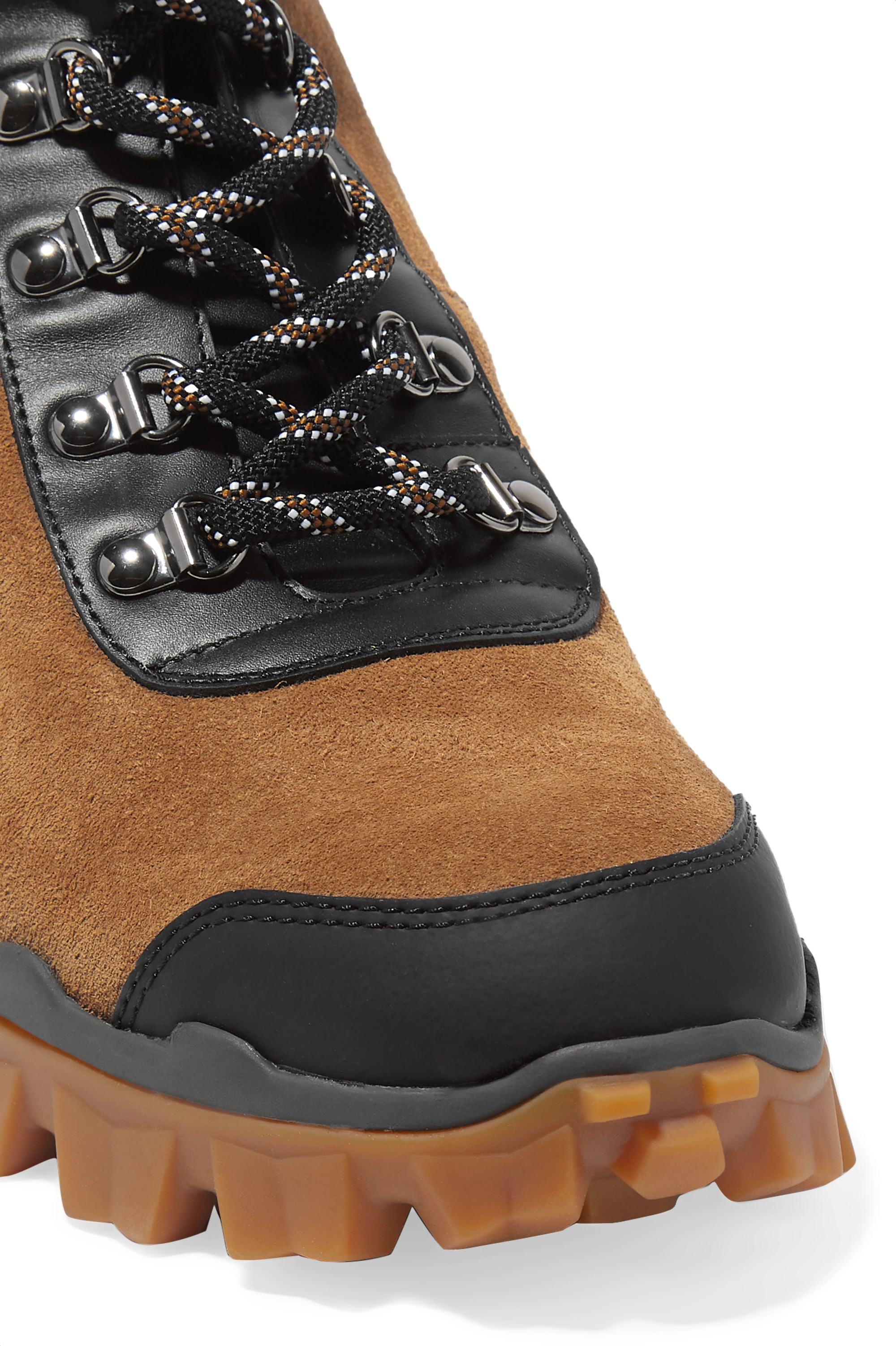 Moncler Helis leather-trimmed suede ankle boots