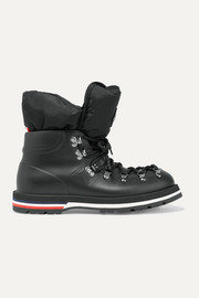 Moncler Inaya shell-trimmed rubber ankle boots