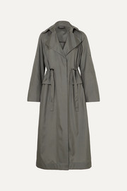Akris Ediz mulberry silk-satin coat