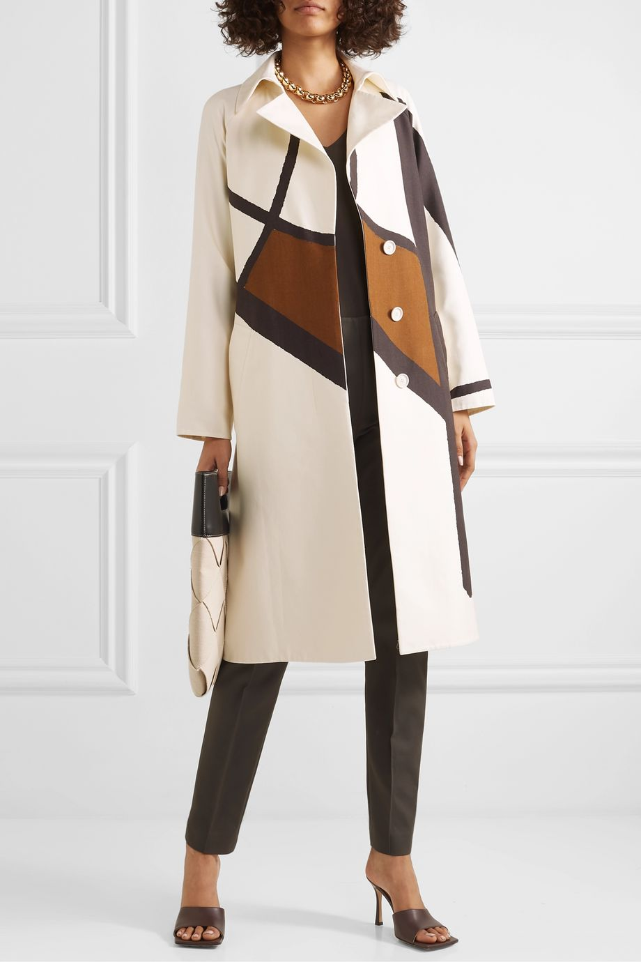 Akris Eevee printed cotton-blend twill trench coat