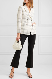 Danita checked wool and cotton-blend crepe double-breasted blazer