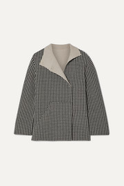 Akris Houndstooth cashmere jacket
