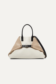Ai small textured-leather tote