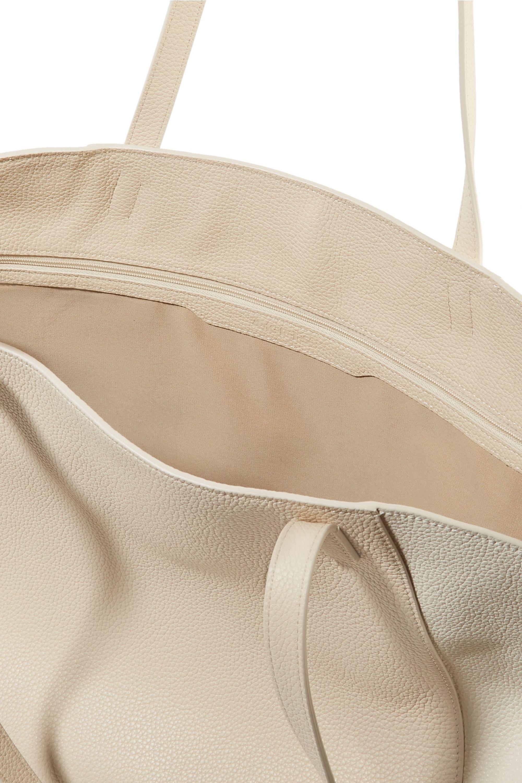 Akris Ai medium two-tone textured-leather tote