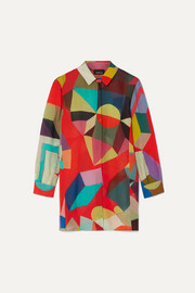 Akris Indian Summer printed wool shirt