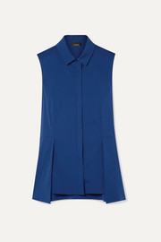 Akris Cotton-blend poplin peplum top