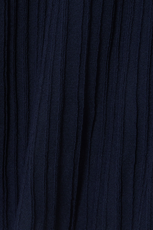 Vince Ribbed stretch-knit midi skirt