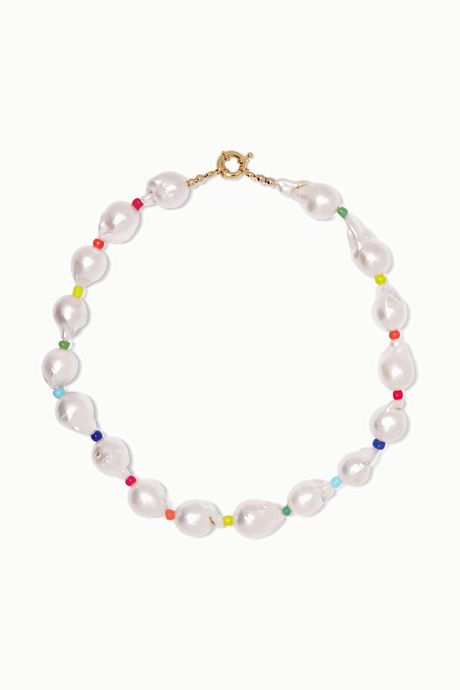White Asti pearl and bead necklace | éliou fwQ0P9